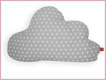 Baby- und Kinderkissen *Wolke* im Sternchenlook grau