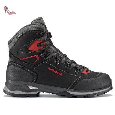 Lowa - Lavaredo GTX Chaussures de trekking pour hommes (noir/rouge) - EU 48 - UK 12,5 - Chaussures lowa (*Partner-Link)