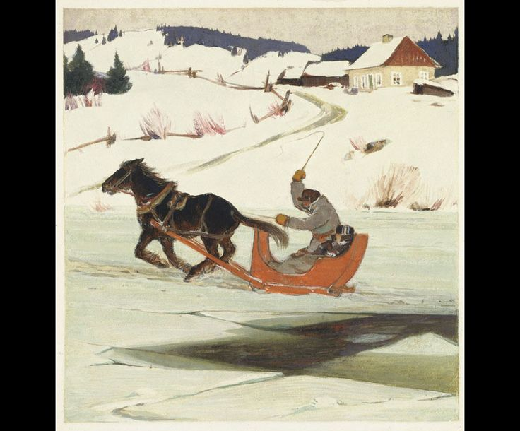 Clarence Gagnon (1881 - 1942), The Last Crossing, 1928 - 1933