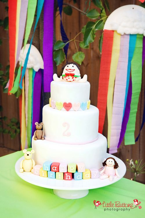 Playschool birthday cake - tutorials on how to make the gorgeous characters on the cake
