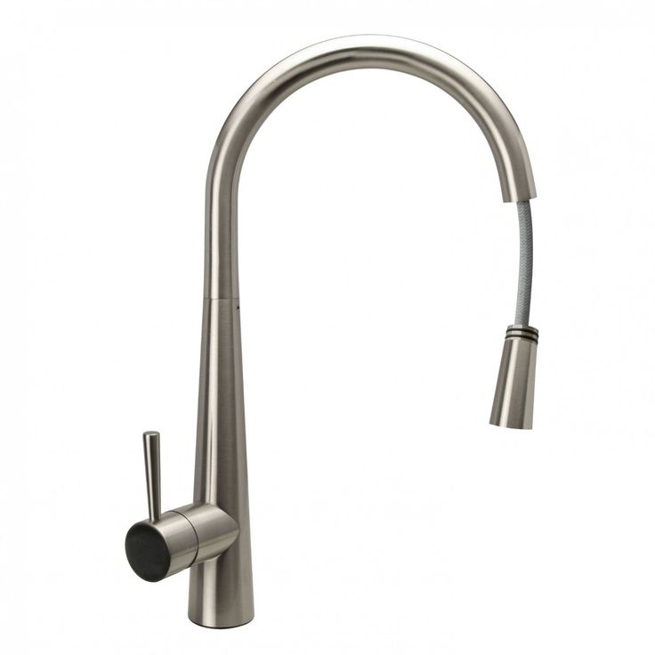 delilah brushed steel kitchen sink mixer tap with pull ibathuk amazonco. Interior Design Ideas. Home Design Ideas