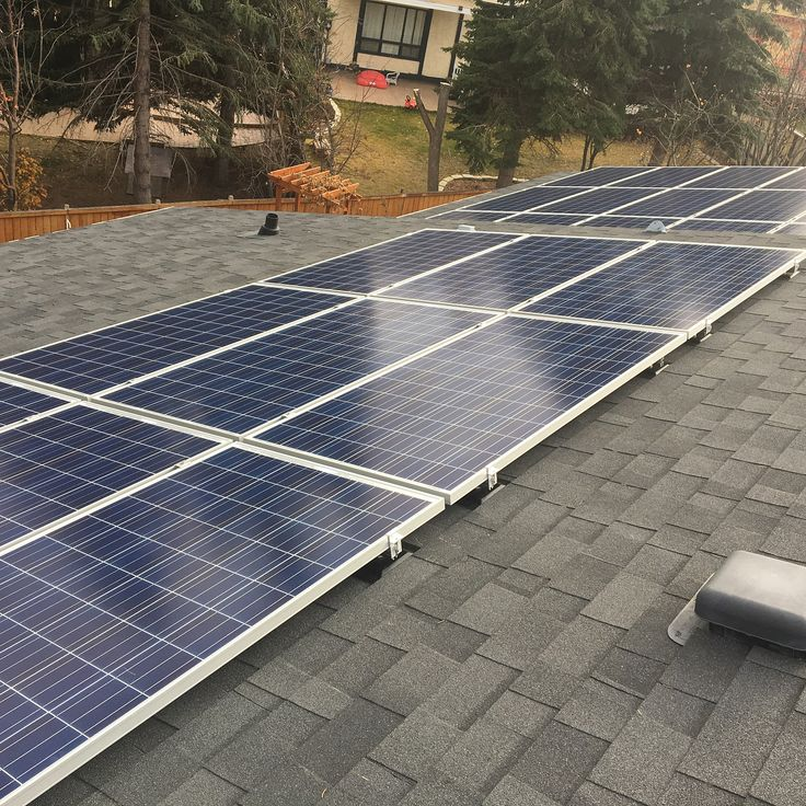 Nice little 24 panel grid tied solar system installed in Calgary Alberta. Not a bad one to start on for our new journeyman recruit!! Welcome to the @wvelectrical team  @terrygreen84. #yyc #alberta #calgarycity #journeyman #electrician #yycelectrical #cochrane #solar #green #greenpower #goinggreen #renewableenergy #gridtied