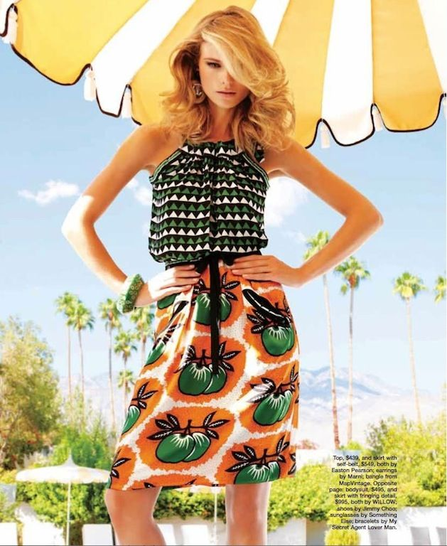 """Endless Summer"": Fabiana Semprebom in Palm Springs by Troyt Coburn for Marie Claire Australia 