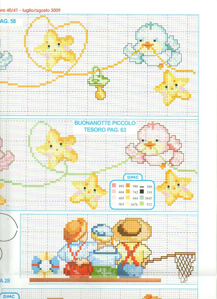lenzuolino uccellini stelle punto croce (4) - magiedifilo.it punto croce uncinetto schemi gratis hobby creativi