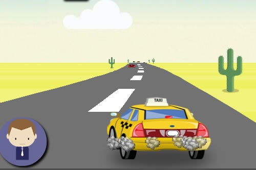 Play online super awesome taxi at:   http://www.freetaxigames.net/game/813/Super-Awesome-Taxi.html    In awesome taxi, you need to disguise as a taxi driver who drives in New York city. You are too crazy and you have to jump across other vehicles to earn money. Jump more to earn whooping sum of money.