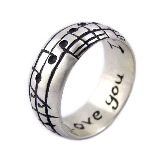 Your Song Ring Custom Notes to Your Favourite by Ricksonjewellery, $198.00