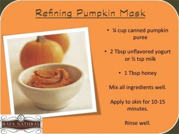 Recipe – Refining Pumpkin Mask