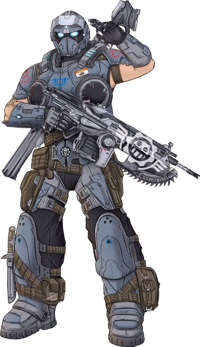 Gears of war, If there was a character customisation option in these games, this would TOTALLY be my character
