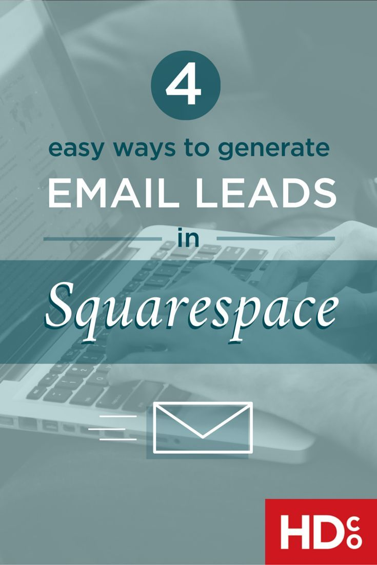 Email marketing is alive and well. Here's how to set up newsletter marketing and generate great leads in Squarespace. Click through to read or pin for later! | Hoot Design Co. – marketing resources for small businesses and creative entrepreneurs.
