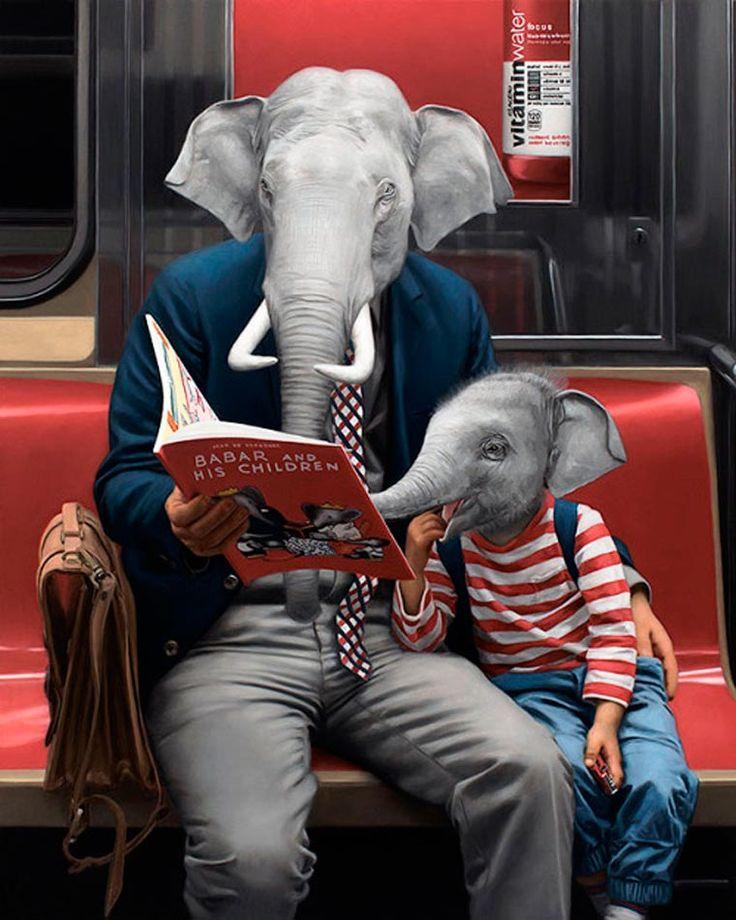 Animales en el Metro