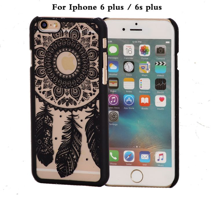 coque phone case for apple iphone6 iphone 6 s 6s plus 6plus case brand black pink hard luxury cover original flower accessories