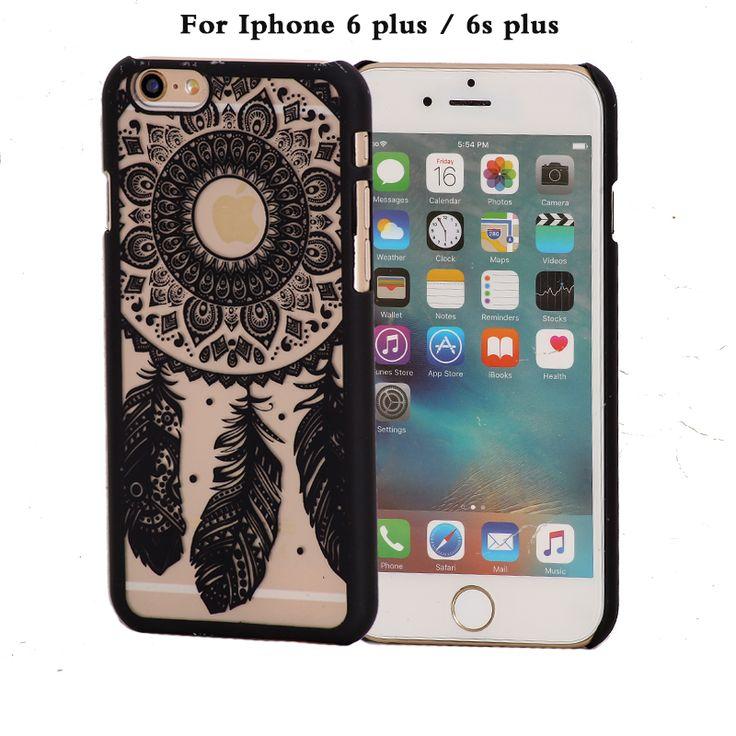 coque phone case for apple iphone6 iphone 6 s 6s plus 6plus case brand black pink hard luxury cover original flower accessories