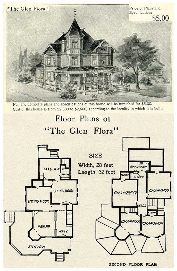 Historic Victorian House Plans Awesome 1905 Hodgson House Plan The Glen Flora In 2020 Victorian House Plans Vintage House Plans Gothic House