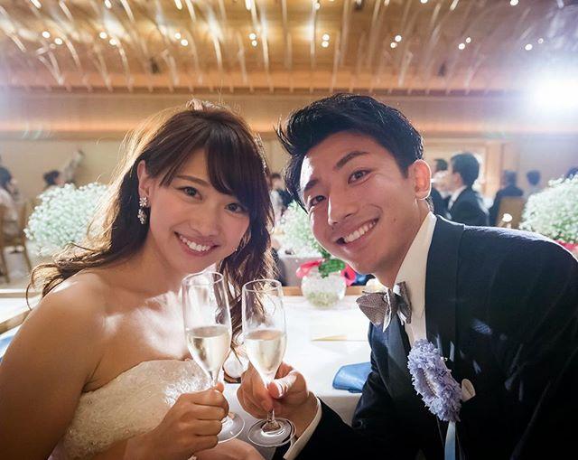 乾杯❤︎  #weddingtbt #八芳園 #白鳳館