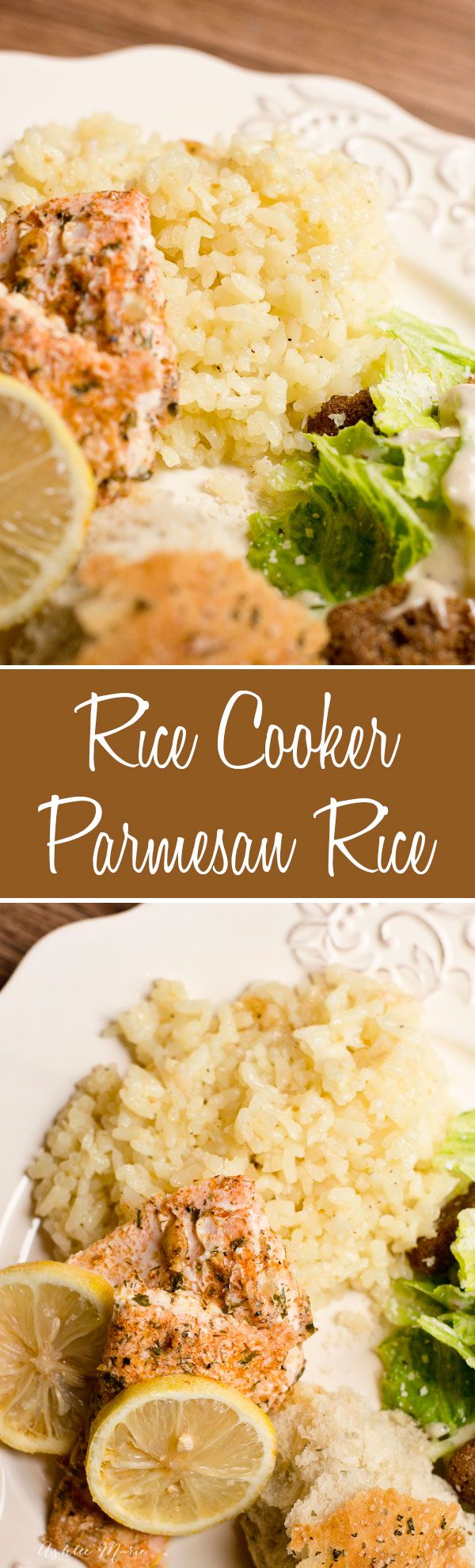 easy and delicious parmesan rice.  Its cheesy goodness made with butter, garlic and onions,