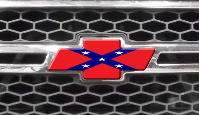 Chevy Bowtie Decal Rebel Flag Diecut Covers Silverado Grill - Rebel flag truck decals   online purchasing