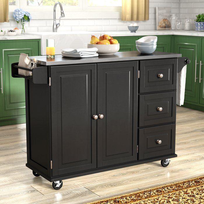 Kuhnhenn Kitchen Island With Stainless Steel Top Diy Kitchen Countertops Home Decor Kitchen Kitchen Island With Granite Top