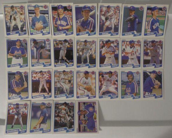 1990 Fleer New York Mets Team Set of 25 Baseball Cards #NewYorkMets
