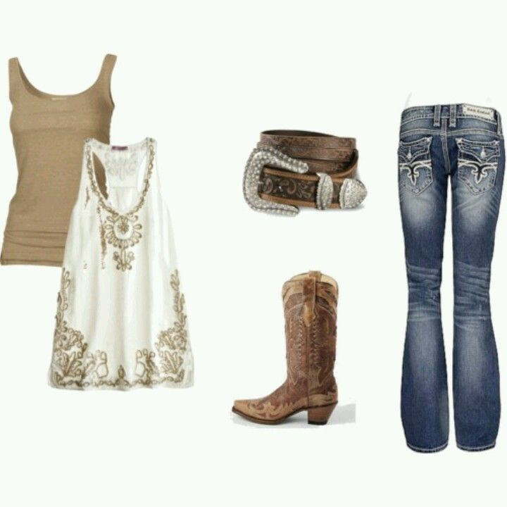 Cute cowgirl outfit, get rid of belt though, ha