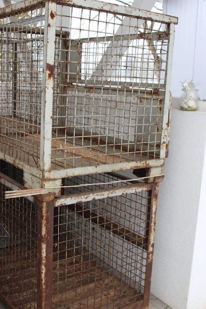 Euro Gitterbox 120x100x80cm Holzbox Aufbewahrung Steine Usw