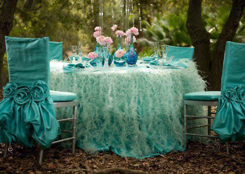 so cute: Chair Covers, Tables Sets, Colors, Tiffany Blue, Aqua, Gardens Parties, Chairs Covers, Teas Parties, Fairies Tales