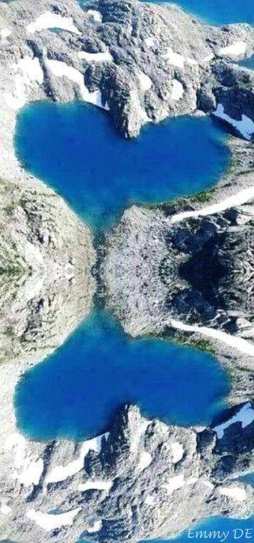 Heart-shaped Shimshal Lake, Hunza Valley, Pakistan