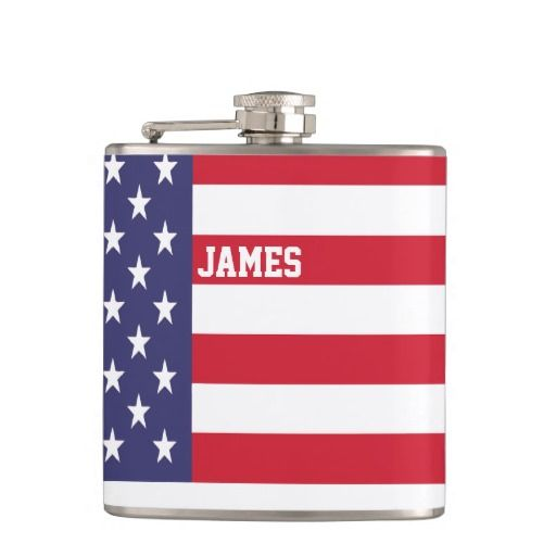 Personalized USA United States Flag Patriotic Flasks. get it on : http://www.zazzle.com/personalized_usa_united_states_flag_patriotic_flask-256997391550097344?rf=238054403704815742