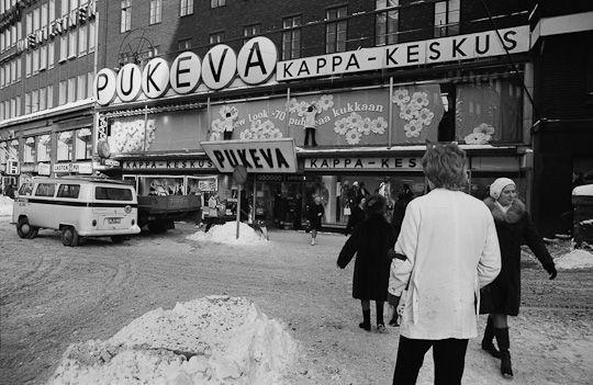 Kaisaniemenkadun Pukeva, Helsinki, 1970-luku. Kuva: Eeva ja Simo Rista