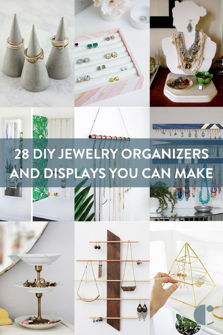 DIY jewelry organizer roundup: Display your jewelry with these DIY jewelry holders and storage ideas you can make yourself.     #How-To, #Roundup
