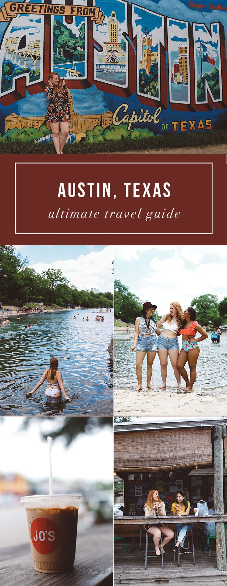72 Hours in Austin, Texas, travel guide. Everything to see and do in Austin. Jo's Coffee, I love you so much wall, Barton Springs. Read here: http://whimsysoul.com/ultimate-austin-travel-guide/ #austin #travelguide #bacheloretteparty #girlstrip #texas