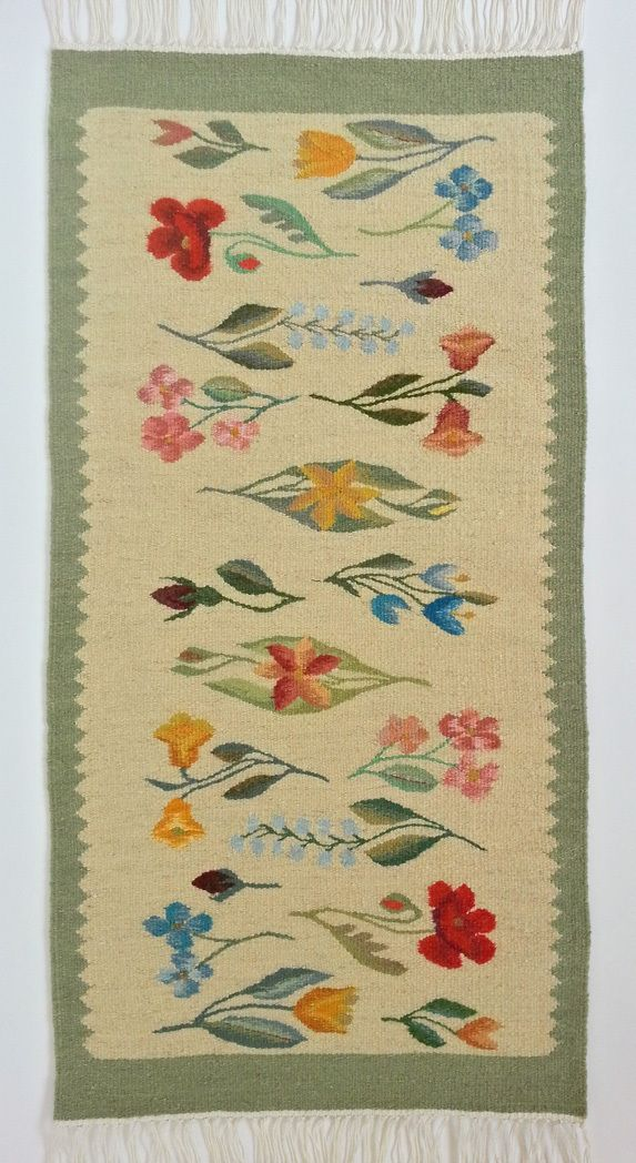 Discount Coupon available in our web-store: 15% off for a limited time!  Rustic Home Decor - Buy now this authentic Romanian traditional handmade wool rug, original work of folk art  Hand woven woolen rug in pale colors - genuine traditional Romanian folk art