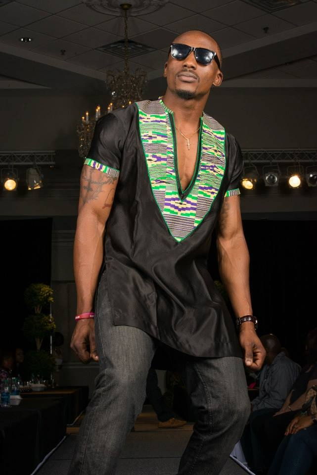 African inspired design.. A blend of kente fabric and silk satin.