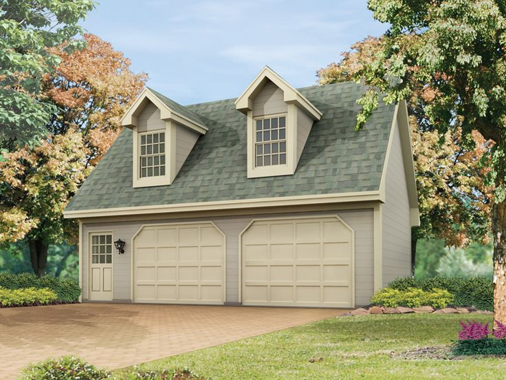 27 best two car garage plans images on pinterest for Two car garage with studio apartment