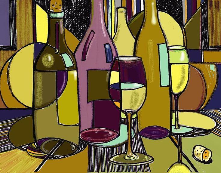 Wine art decco  http://images.fineartamerica.com/images-medium-large/wine-bottle-deco-peggy-wilson.jpg