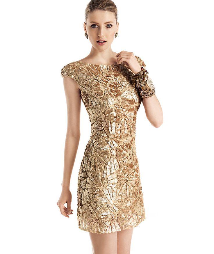 Gold Cocktail Dresses Women