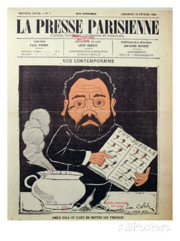 Front Cover of 'La Presse Parisienne' with a Caricature of Emile ...