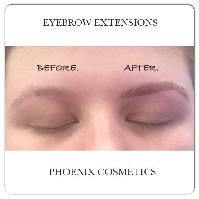 Before and After! Come and try Eyebrow Extensions at Phoenix Cosmetics!