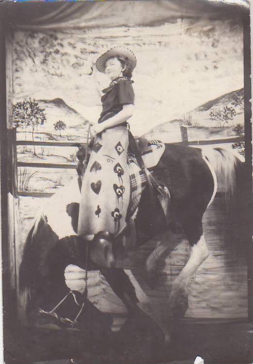 Awesome Vintage Photo Pretty Woman Cowgirl Chaps Hat Bandana Horse Saddle Bridle | eBay..