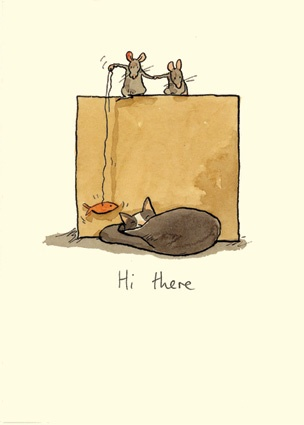 M17 Hi There - A Two Bad Mice Card by Anita Jeram