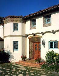 Spanish revival--I want a house w a spanish tile roof