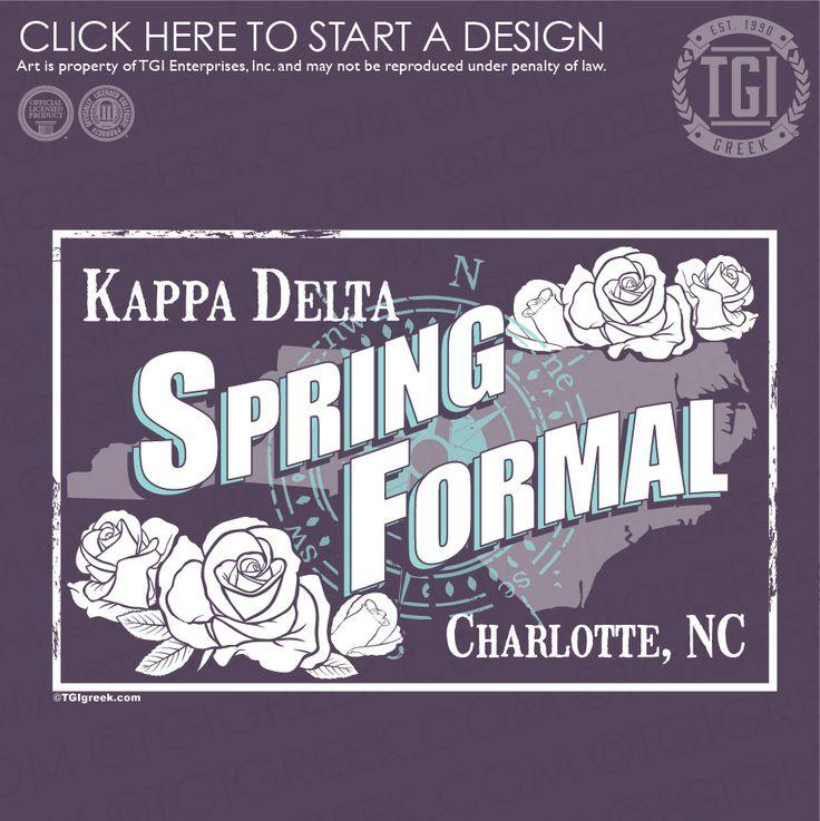 Kappa Delta | KΔ | Spring Formal | Formal | TGI Greek | Greek Apparel | Custom Apparel | Sorority Tee Shirts | Sorority T-shirts | Custom T-Shirts
