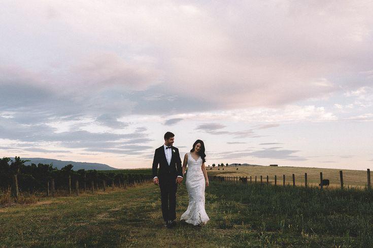 Zonzo Estate Yarra Valley wedding by Vanessa Norris Photography. Bride wears Jane Hill Bridal gown.