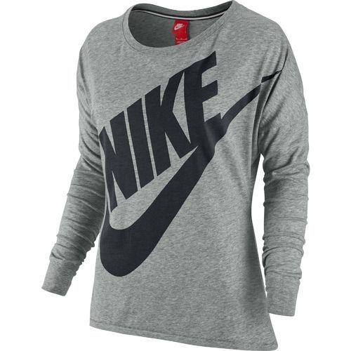 Nike Signal Long-Sleeve Women's T-Shirt Grey/Black (Size