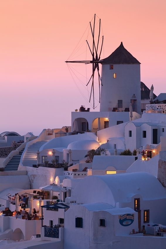 Sunrise Santorini, Greece - I like the architure; I can't imagine what it would be like to live there.