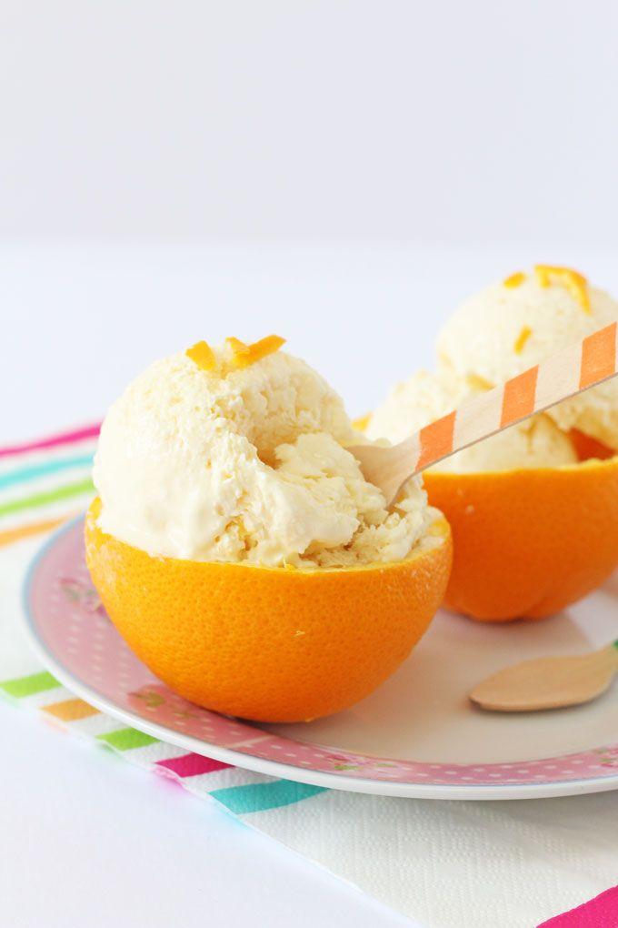 E - Orange Creamsicle Frozen Yogurt (I used 2 cups Greek yogurt. i whole orange, 1/2 tsp vanilla, 1 tbsp Super Sweet, 1 tbsp Vegetable Glycerin...and used ice cream machine for 15 minutes. Yum!!)