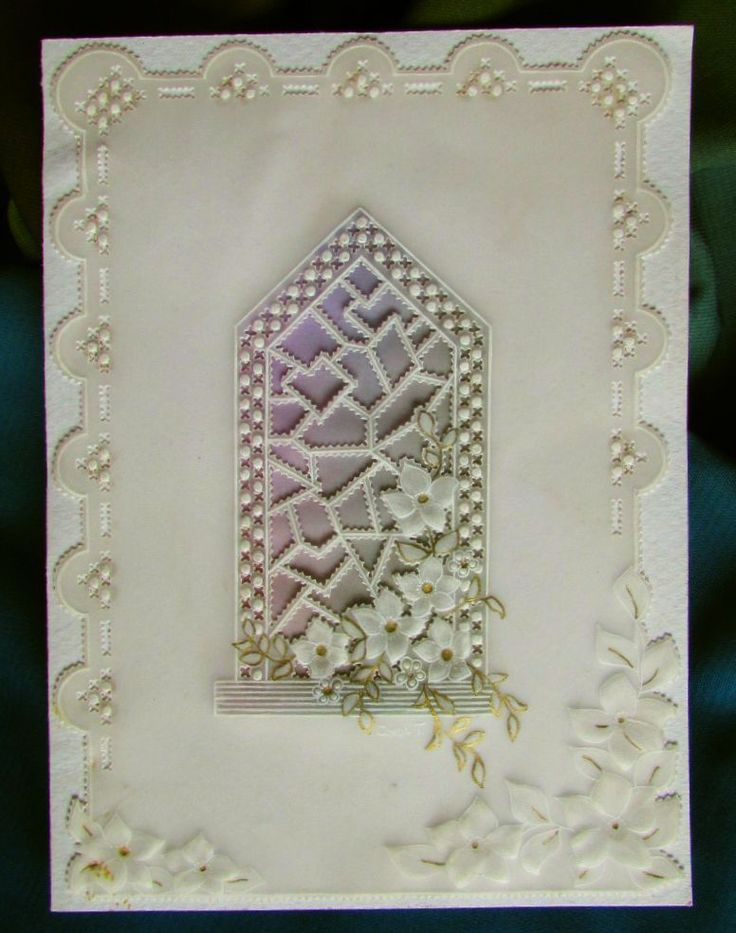 Stained glass window sympathy card.