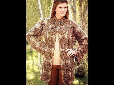 una bonita chaqueta o chaqueton largo facil de realizar al que le puedes dar mucho uso, ideal para principiantes grupo de facebook https://www.facebook.com/g...