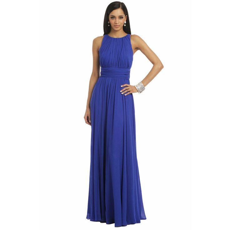 Bleu Royal Vert Émeraude En Mousseline de Soie Robe De Demoiselle D'honneur Robes 2016 De Bal Longue robe de festa Bleu Royal Demoiselle D'honneur Robe