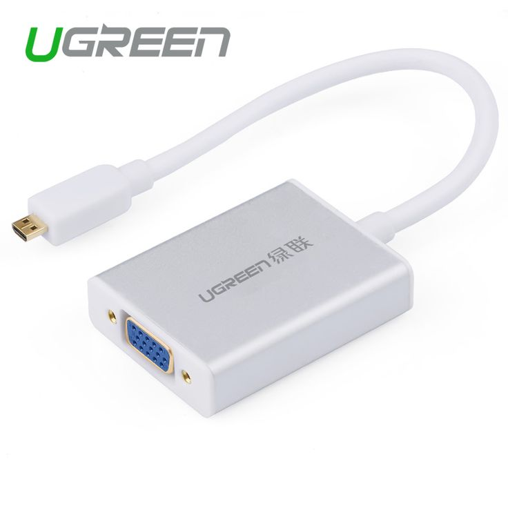 Ugreen Micro HDMI to VGA cable Micro HDMI male to VGA adapter with 3.5mm audio jack & micro USB Cabo HDMI Converter for XBOX PS4