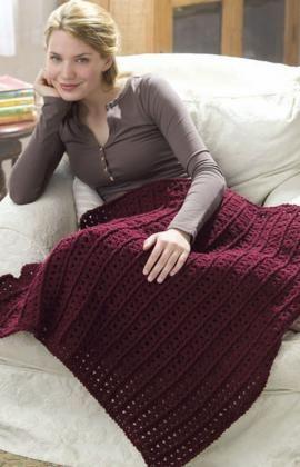 Crochet One-Skein Lap Throw Crochet Pattern